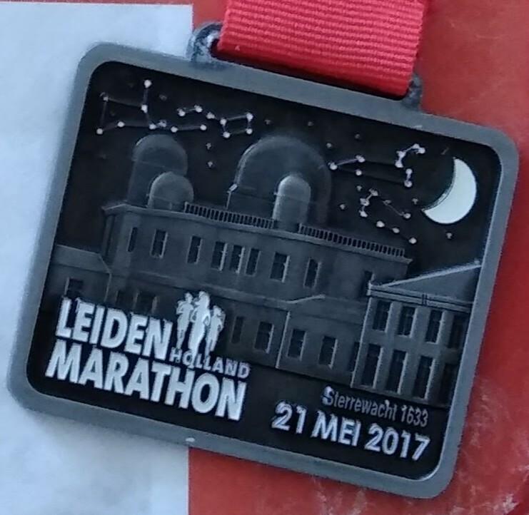 Medaille Leiden Marathon 2017
