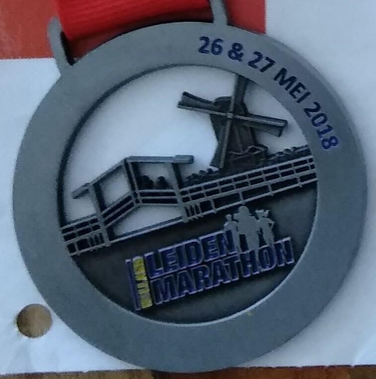 Medaille Leiden Marathon 2018