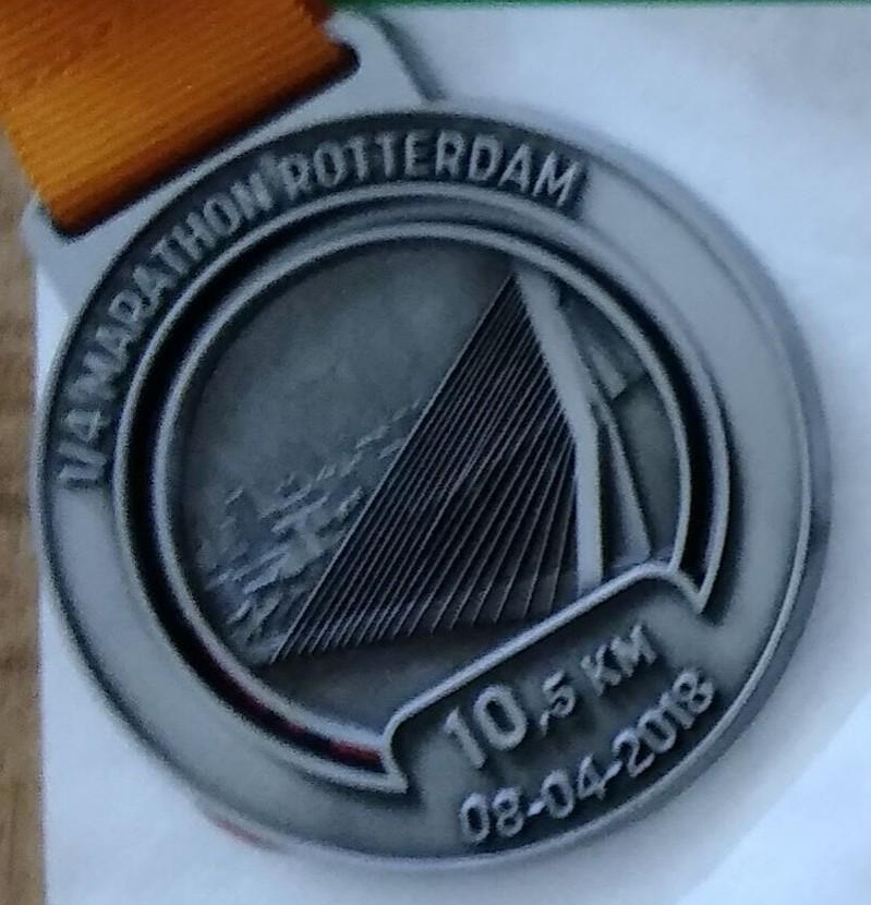 Medaille Marathon Rotterdam 2018
