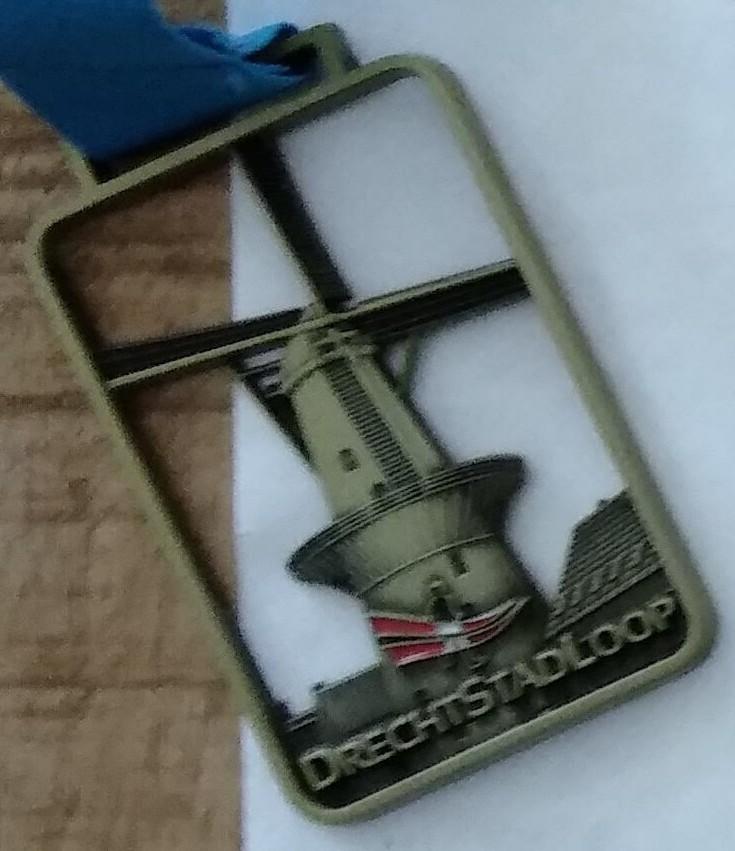 Medaille DrechtStadLoop 2017