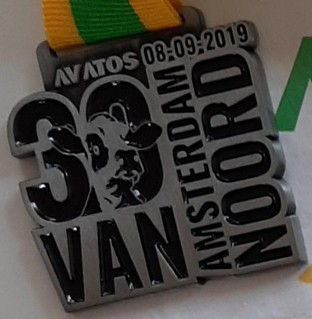 Medaille 30 van Amsterdam Noord 2019